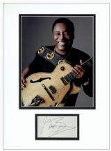 George Benson Autograph Signed Display